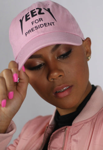 Pink Presidential Cap - Dope Fein Boutique
