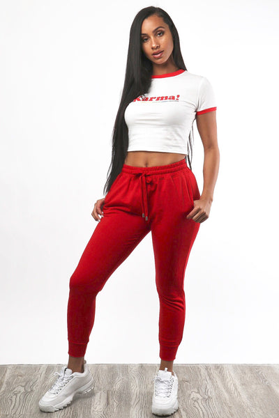 Fave Sweats - Red - Dope Fein Boutique