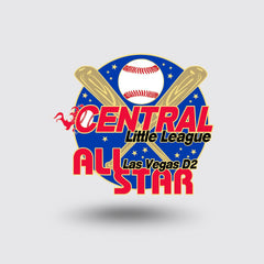 """Central Little League"" Custom Pin Sample"