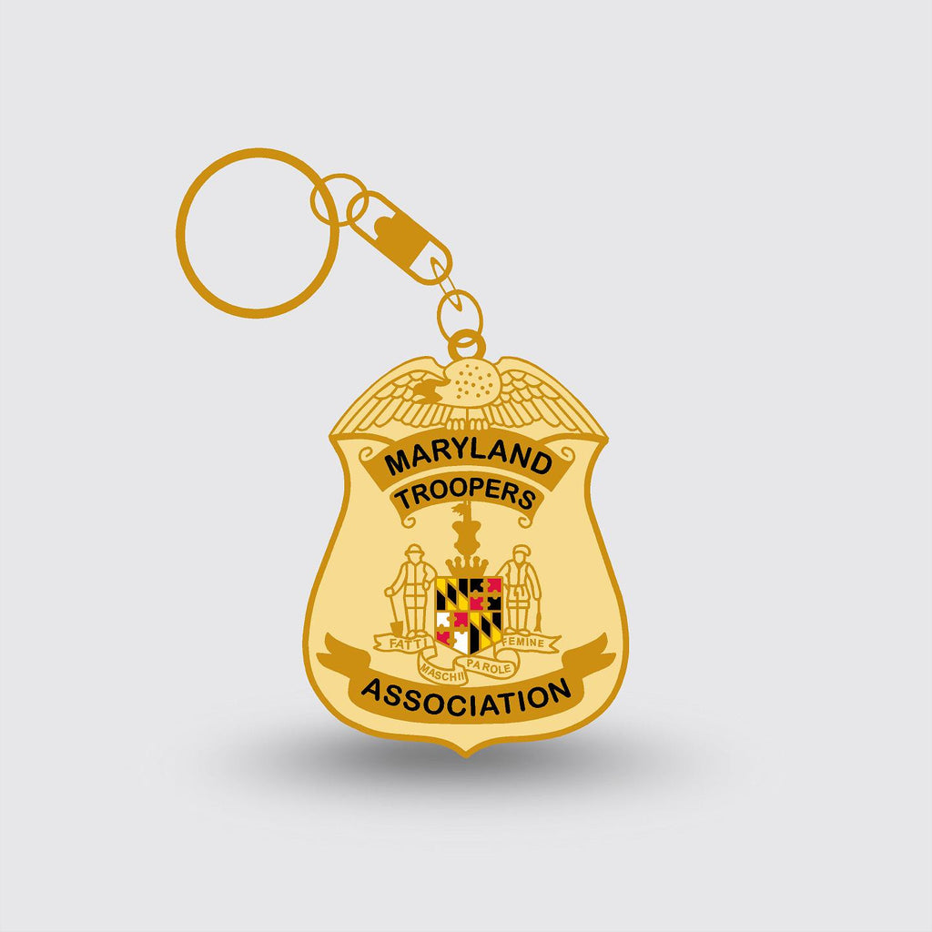 """Maryland State Police"" Badge Key Chain Specialty Item Sample"