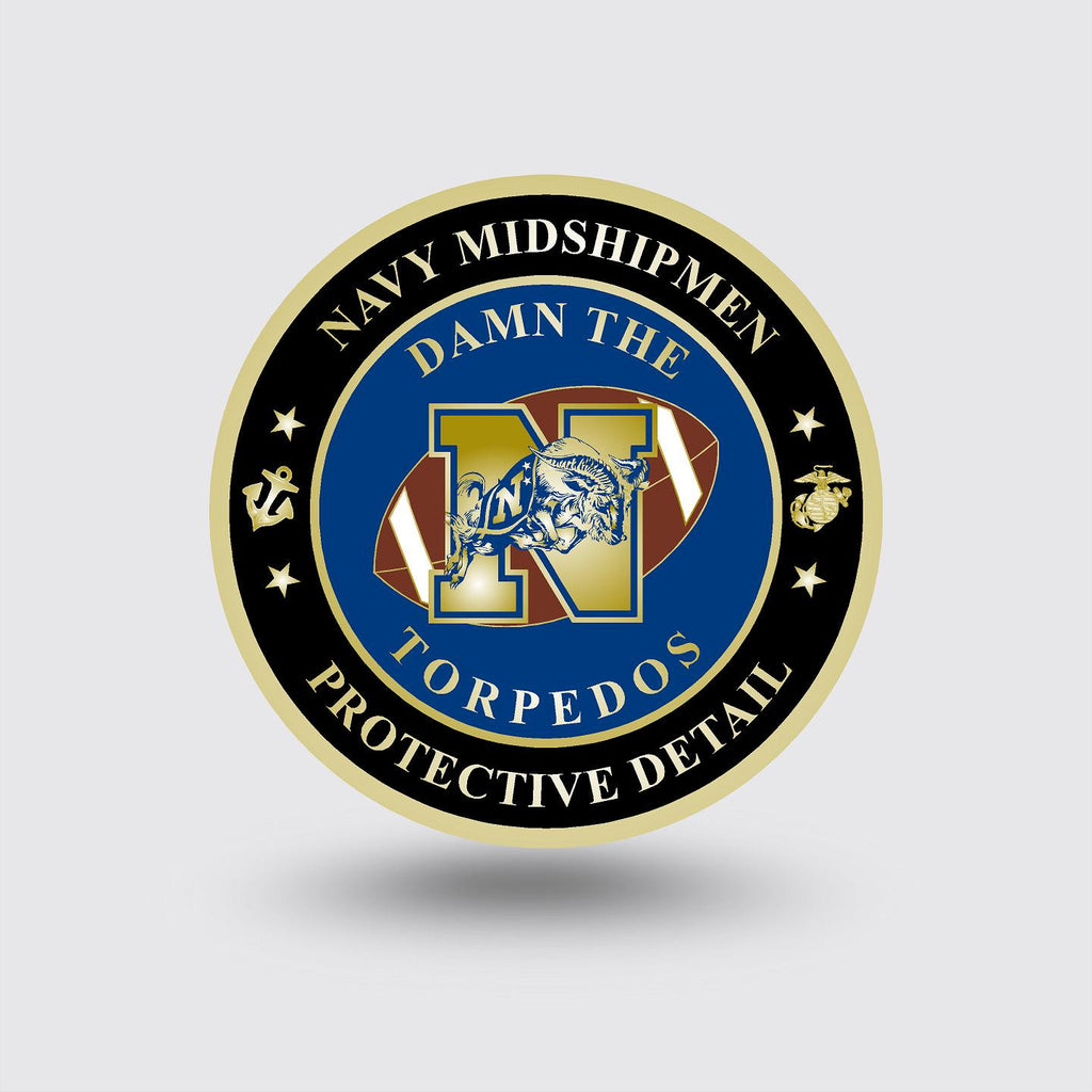 """Navy Protective Detail- MSP"" Custom Coin Sample"