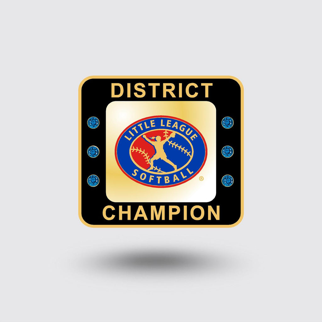 Little League Softball District Ring   ***In Stock Item***