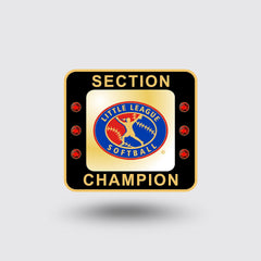 Little League Softball Section Ring   ***In Stock Item***