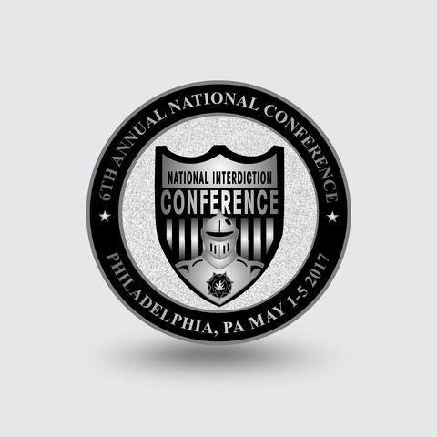 """2017 National Interdiction Conference"" Custom Coin"
