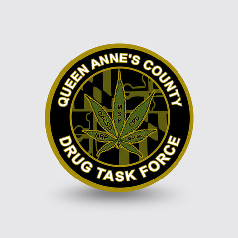 """Queen Anne's County DTF"" Custom Coin Sample"