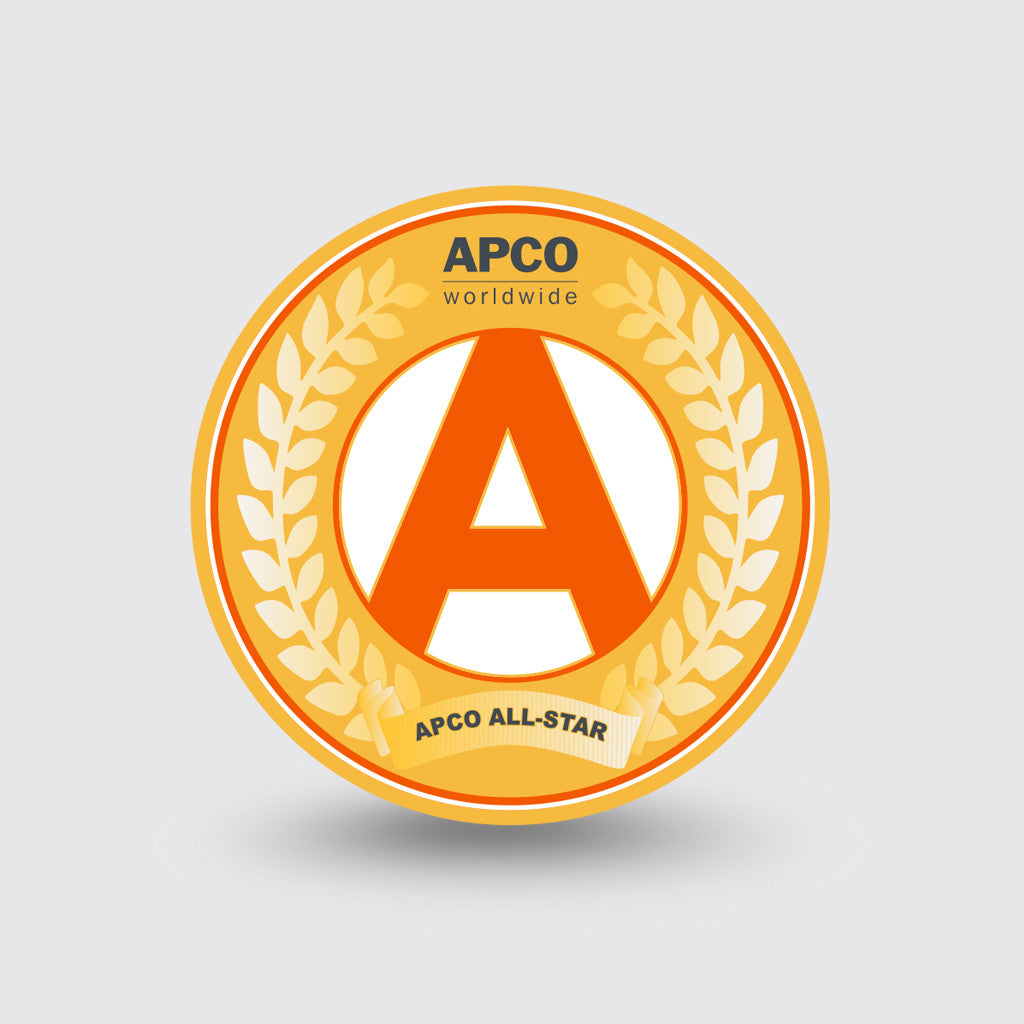 """APCO"" Custom Coin Sample"