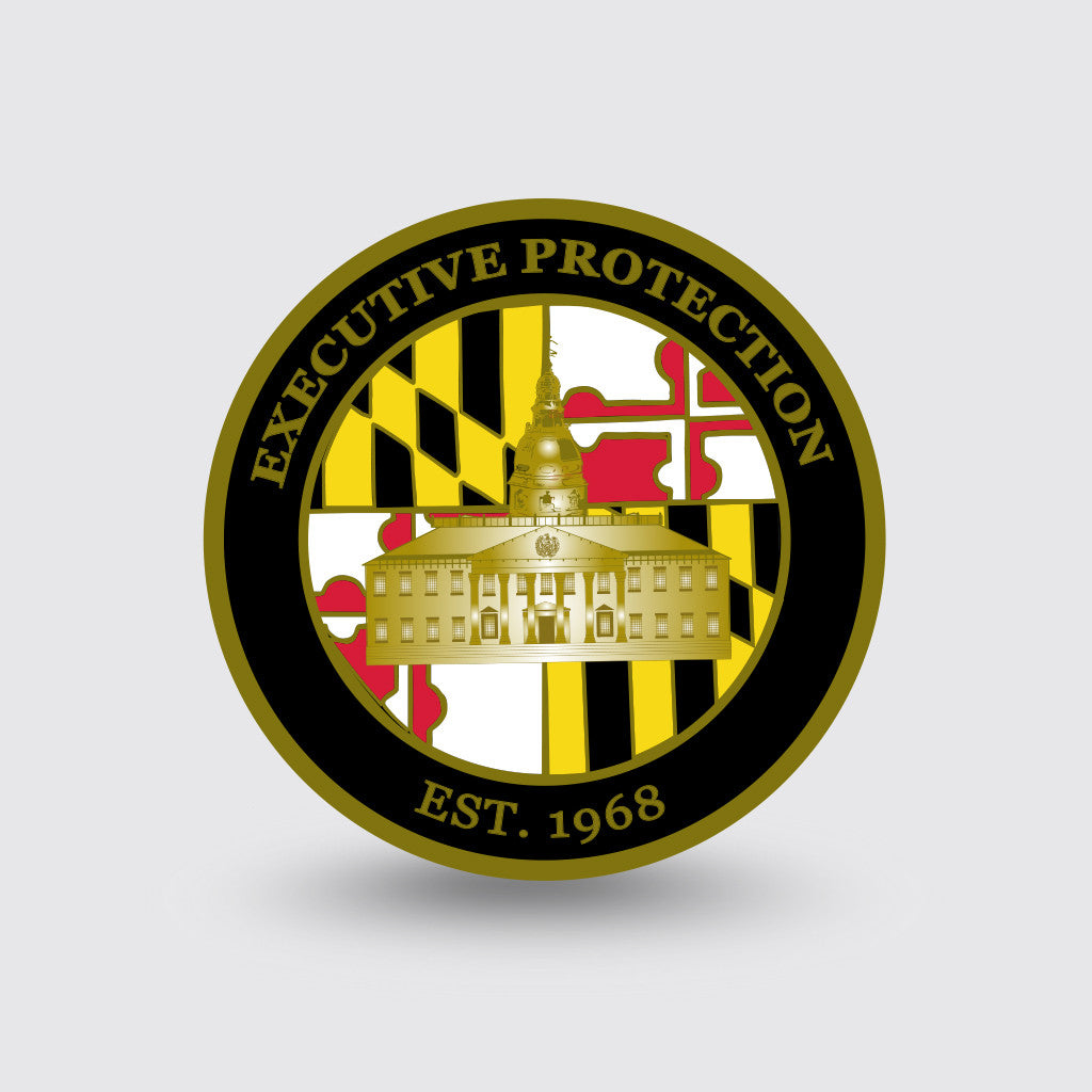 """Maryland State Police"" Custom Coin Sample"