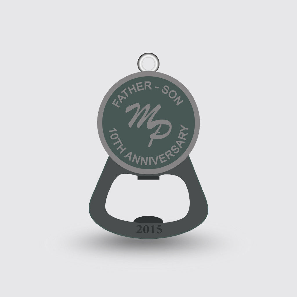 """10th Anniversary"" Bottle Opener Specialty Item Sample"