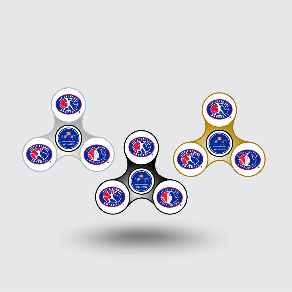 Little League/Infiniti Pins Fidget Spinners  In Stock Item