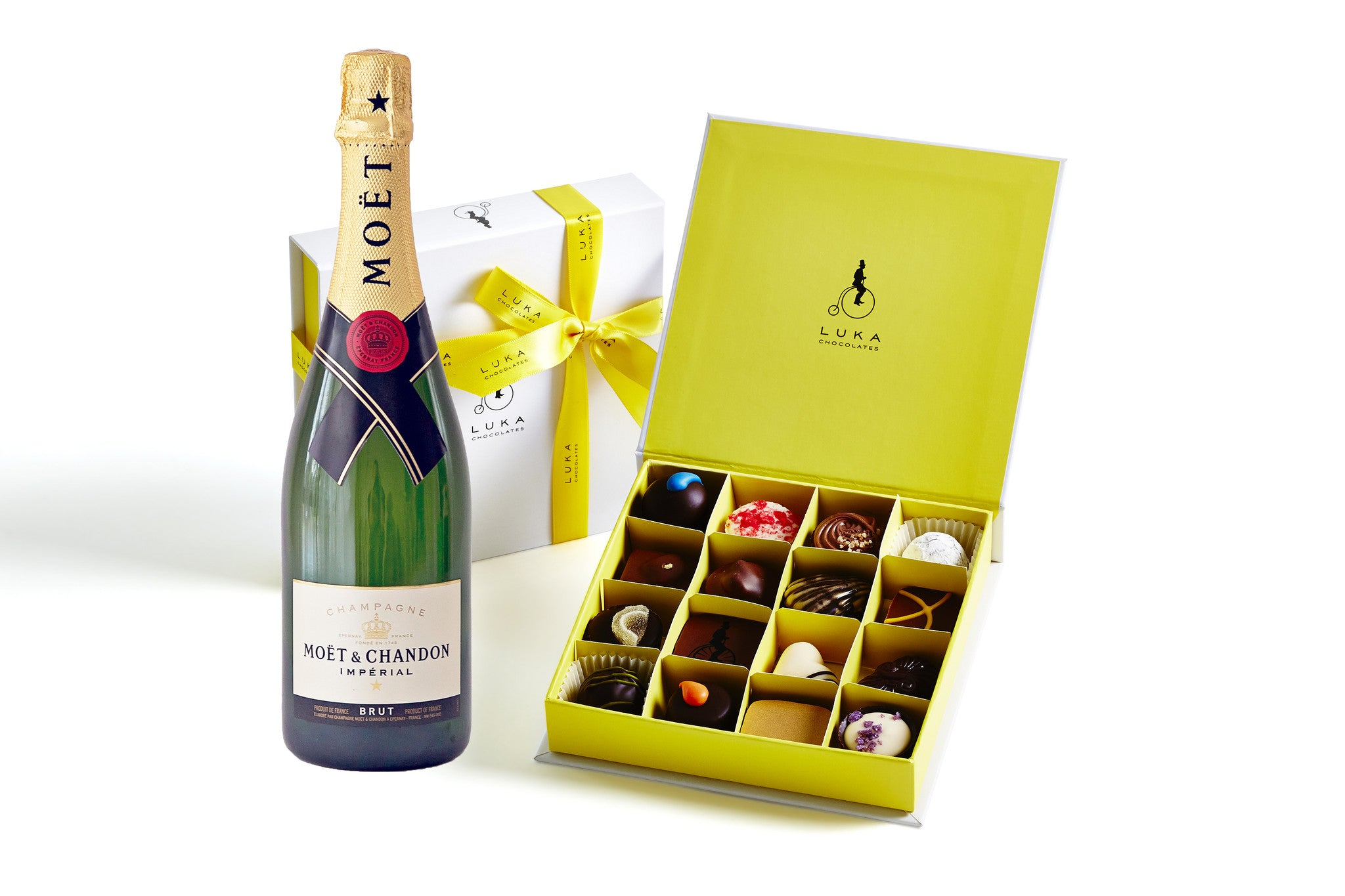 Champagne and chocolate gift pack luka chocolates champagne and chocolate gift pack negle Choice Image