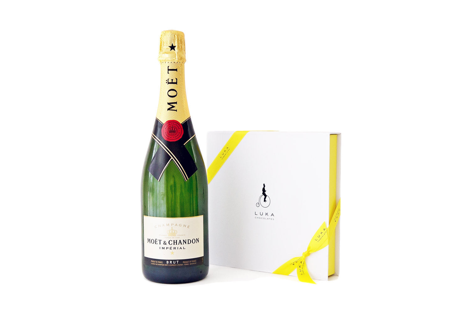Champagne and chocolate gift pack luka chocolates chocolate and champagne gift pack delivered australia wide negle Choice Image