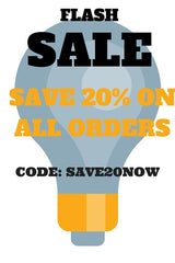 SAVE 20% ON ALL ORDERS