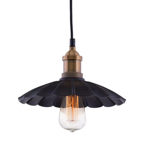 HAMILTON CEILING LAMP ANITQUE BLK/COPPER