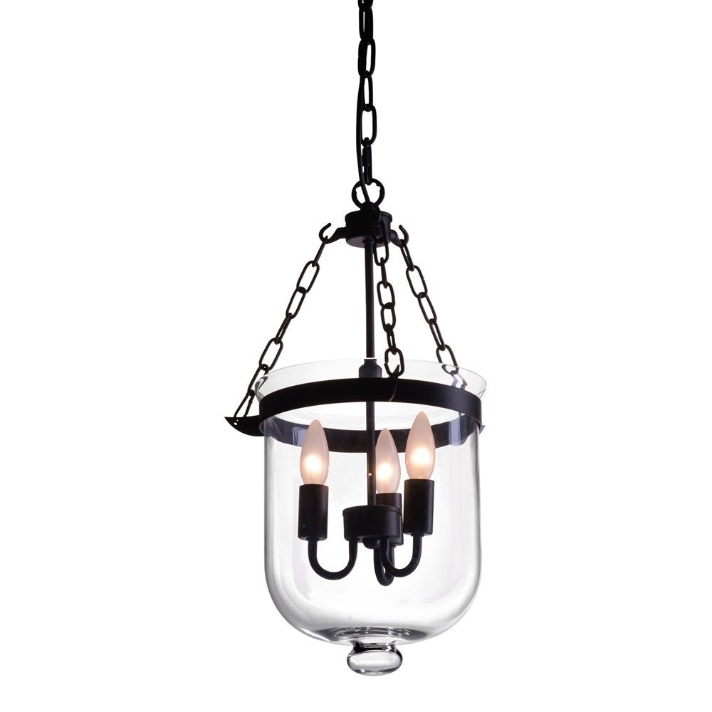 MASTERTON CEILING LAMP DISTRESSED BLACK