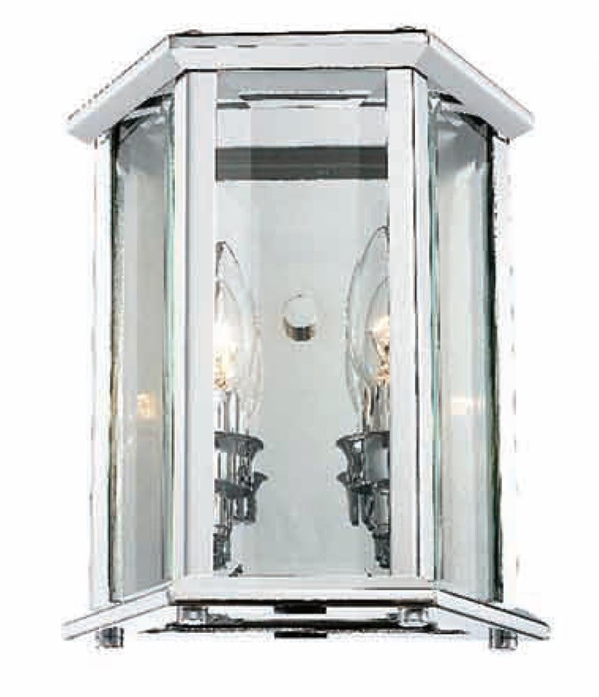 2 Light Clear Glass Chrome Frame Wall Sconce AB41CH