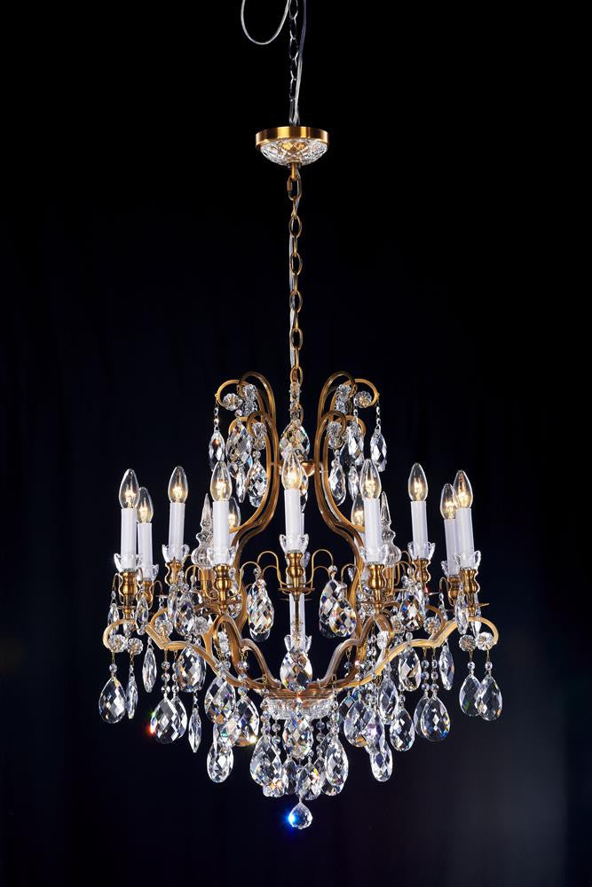 13 Light Crystal Candle Light Chandelier In Brass Color BET65