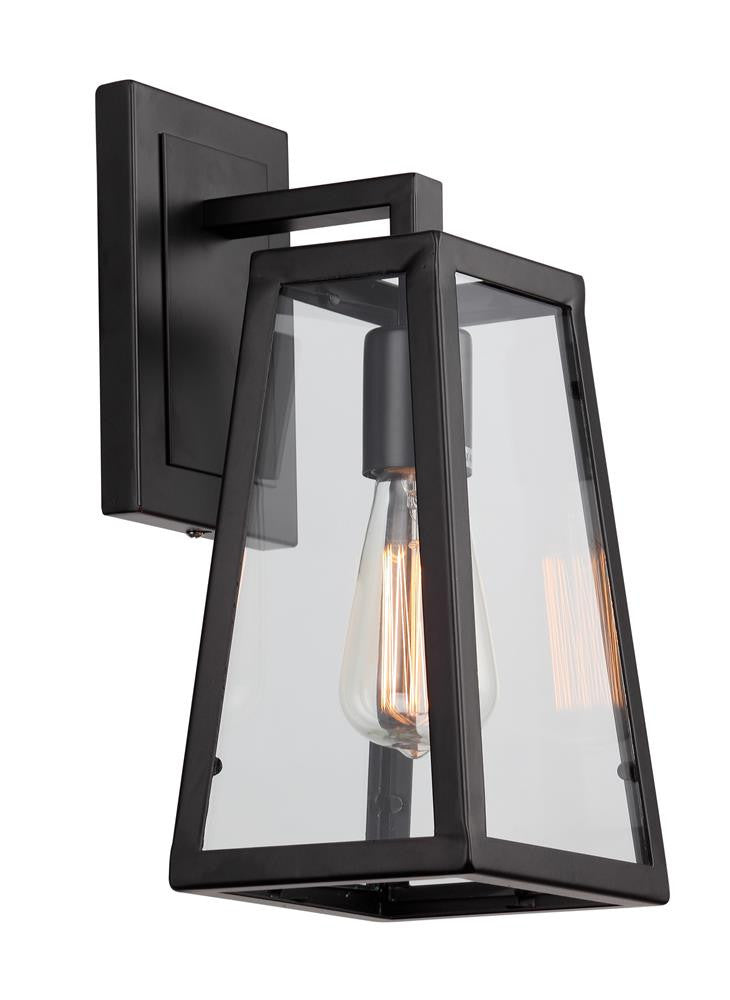 1 Light Black Frame Wall Sconce DU14