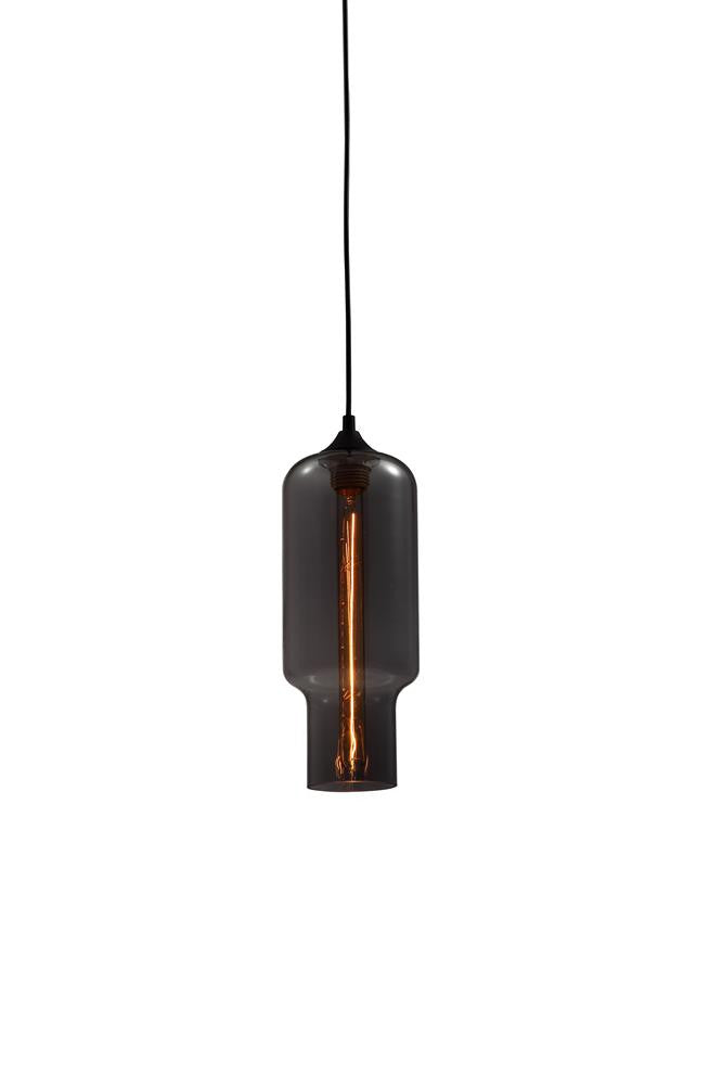 1 Light Smoke Glass Shade Pendant GL117S