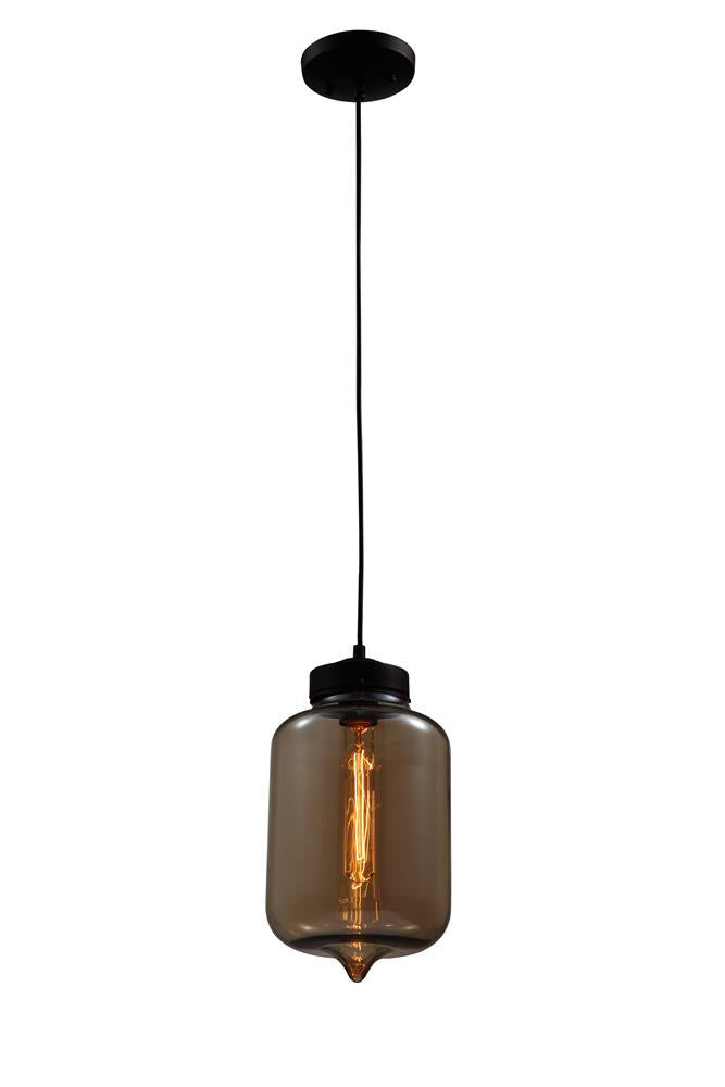 1 Light Amber Glass Shade Pendant GL119A