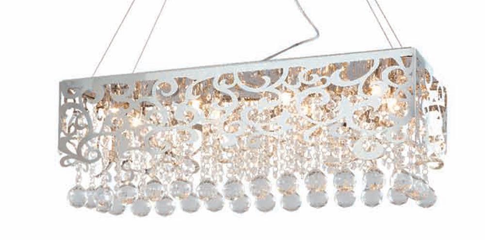 6 Light Stainless Steel Shade Pendant GL199-22