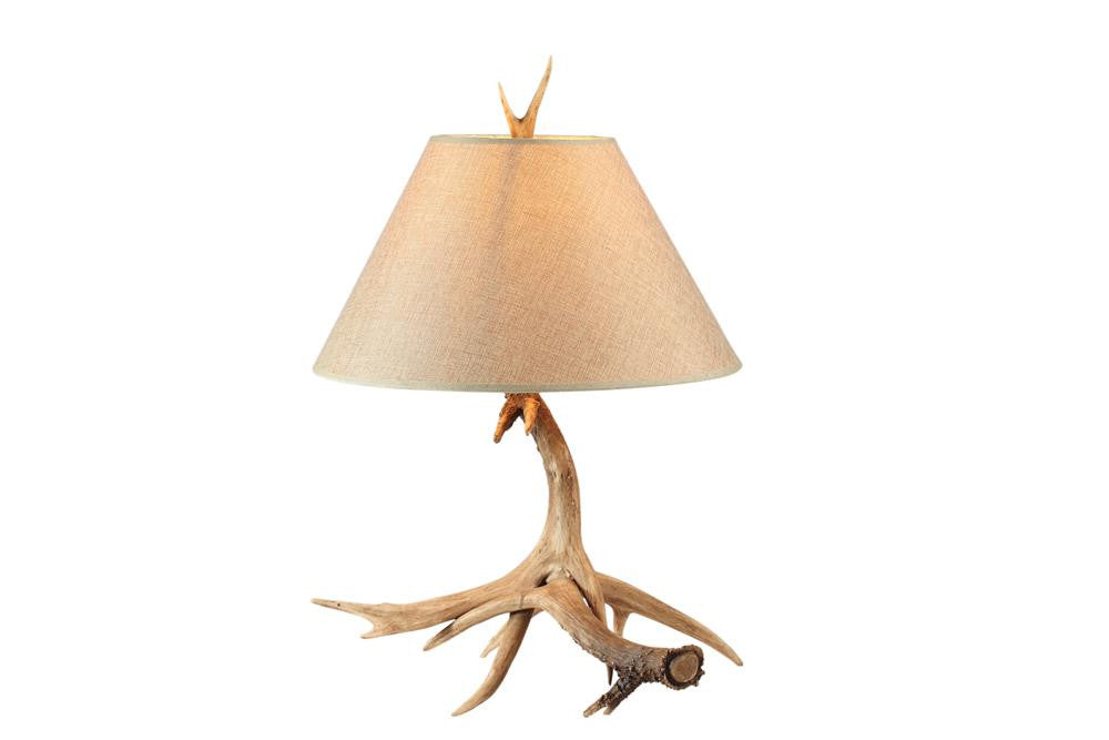 1 Light Beige Polyresin Frame Beige Shade Table Lamp IL11