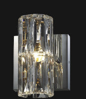 1 Light Clear Crystal Wall Sconce MBC11031-160