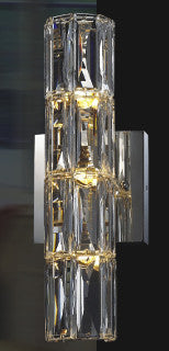 3 Light Clear Crystal Wall Sconce MBC11031-310
