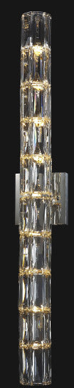 9 Light Clear Crystal Wall Sconce MBC11031-760