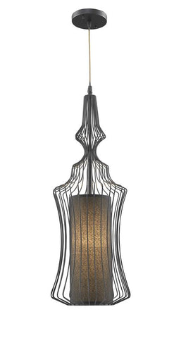 1 Light Black Shade & Frame Pendant YS304