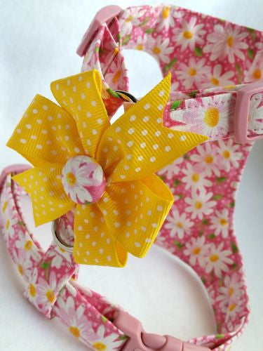 Daisy  Pink  Soft Dog Harness