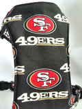 San Francisco 49ers small dog harness by 3poochys
