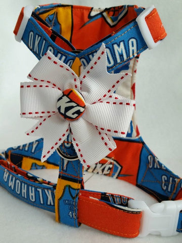 Oklahoma City Thunder Small Dog Harness