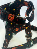 Ghost -Bats- Pumpkin Dog Harness