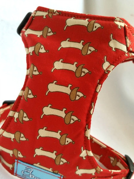 Let's Play Red  Dachshund Harness