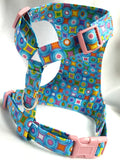 Rainbow Dots Soft Dog Harness