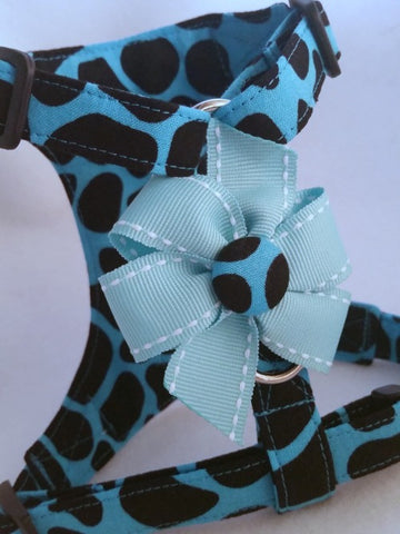 Blue Leopard Harness
