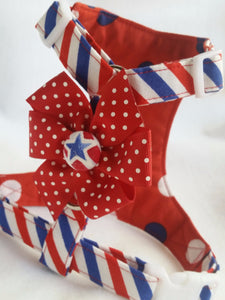 Patriotic  Polka Dots Harness
