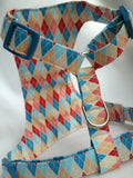 Argyle Love Birds Dog Harness