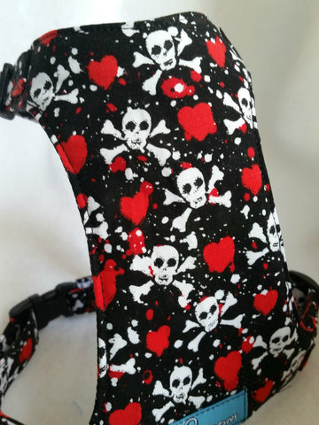 Hearts and Skulls Harness