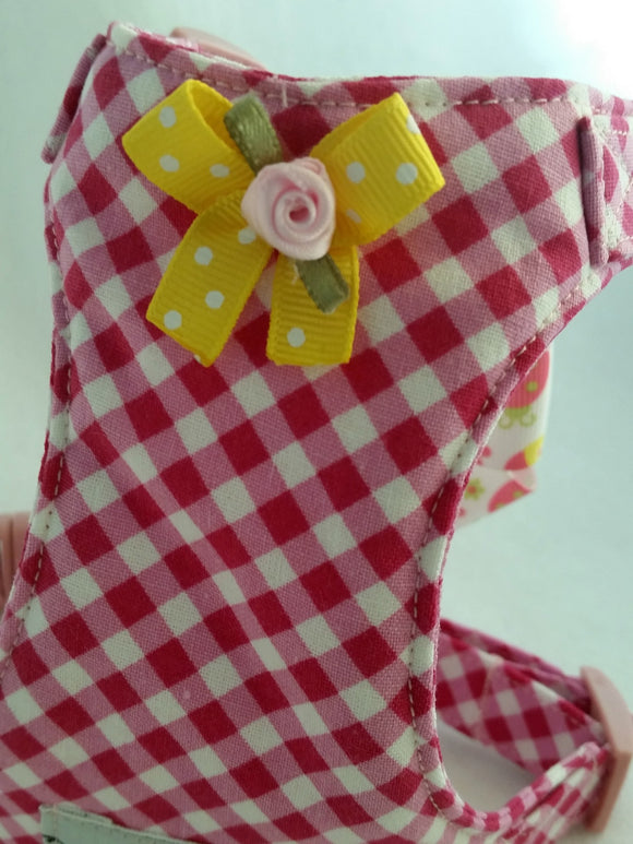 Pink Gingham Harness
