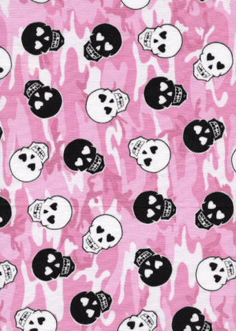 Pink Camouflage Skulls Harness
