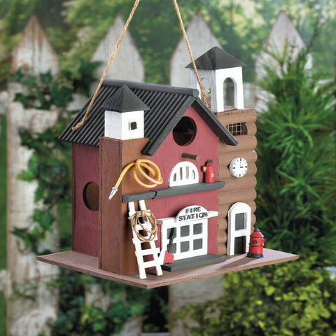 Fire Station Bird House