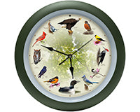 Audubon Singing Bird Clock 13 Inch 20th Anniversary Edition