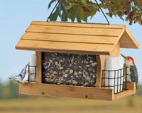 Premium Bamboo Ranch Bird Feeder with Suet Cages