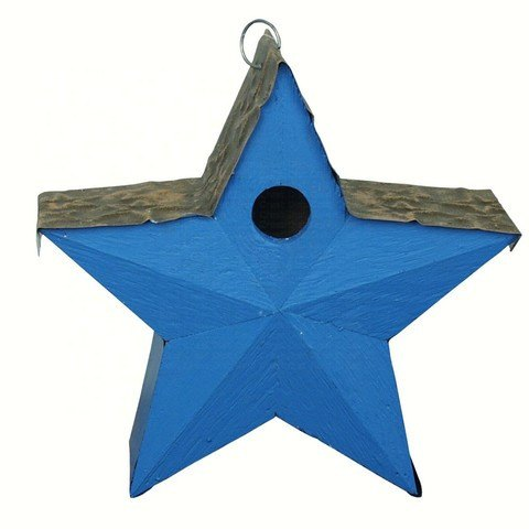 Country Star Bird House Blue