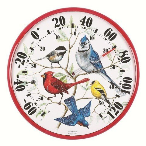 Designer Edition Songbirds Thermometer 12.5 inch