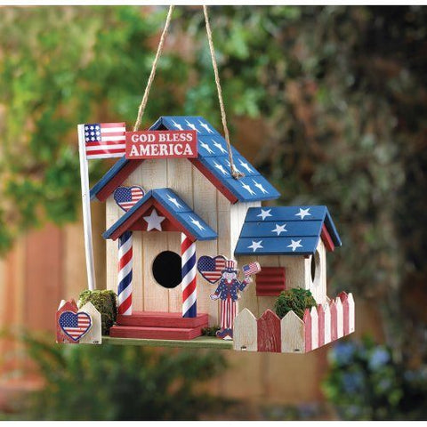 God Bless America Bird House