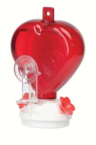 Heart Window Hummingbird Feeder