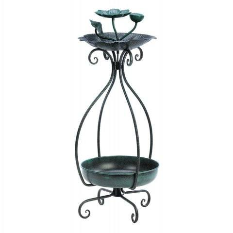 Metal Bird Feeder and Planter