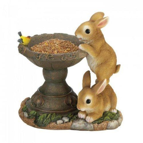 Playful Bunnies Bird Feeder